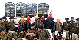 मुजफ्फरपुर में पुलिस को मिली सफलता, अलग-अलग कांडों में 11 को किया गिरफ्तार