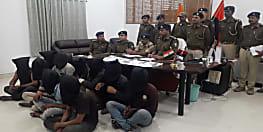 मुजफ्फरपुर पुलिस को मिली कामयाबी, अलग अलग जगहों से 10 को किया गिरफ्तार