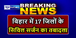 बिहार के 16 जिलों में नए सिविल सर्जन,स्वास्थ्य सेवा के 17 अधिकारियों को मिली नई जिम्मेदारी, देखें पूरी लिस्ट...