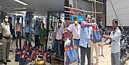 लॉकडाउन में गरीबों की मदद को बढ़ा बैंक ऑफ इंडिया का हाथ, आवश्यक सामग्री का किया वितरण