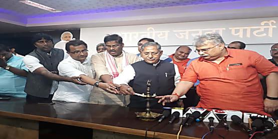 बिहार भाजपा ने मनाया स्थापना दिवस, नंदकिशोर बोले- नरेंद्र मोदी को एक बार फिर से पीएम बनाकर पूरा करेंगे भारत को विश्वगुरु बनाने का लक्ष्य