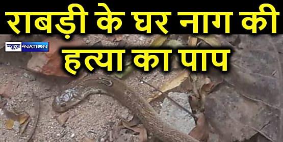 भगवान शंकर के भक्त लालू की पत्नी राबड़ी के सरकारी आवास में निकला नाग, मारा गया, जदयू ने दी कुछ ऐसी प्रतिक्रिया