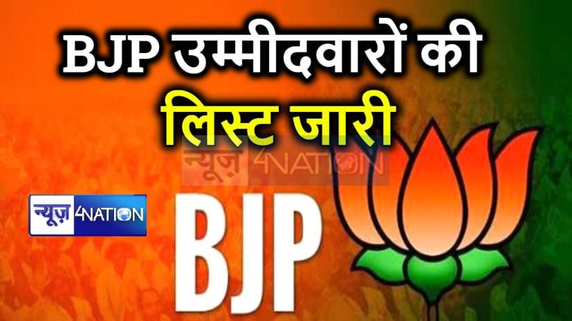 बिहार BJP ने पहले चरण के 27 उम्मीदवारों की जारी की लिस्ट,देखें पूरी सूची
