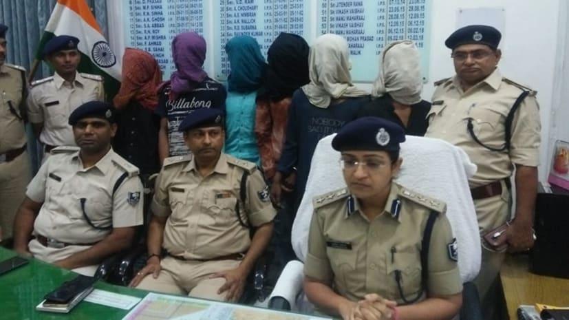 पटना में आठ कुख्यात गिरफ्तार, कई मामलों में थी पुलिस को तलाश