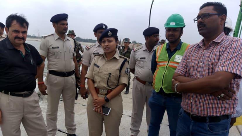 एएसपी लिपि सिंह ने किया मोकामा बेगूसराय सिक्स लेन ब्रिज का निरीक्षण, सुरक्षा को लेकर दिए कई निर्देश