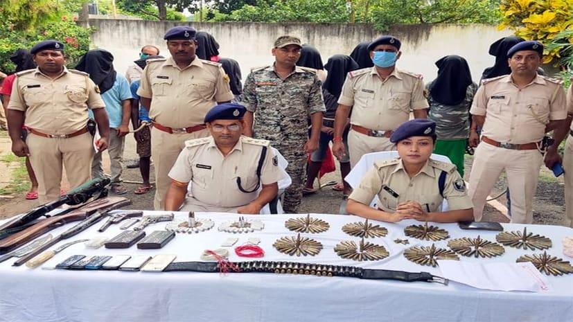 मुंगेर में पुलिस की बड़ी कार्रवाई, 8 नक्सली 2 रायफल और 300 गोली के साथ गिरफ्तार