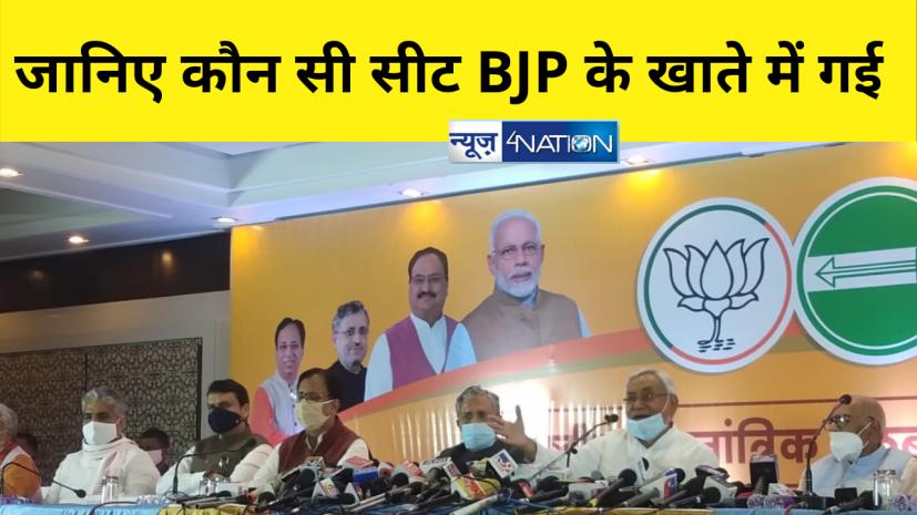 बीजेपी-जेडीयू के बीच विस सीटों का हुआ बंटवारा,जानिए कौन सी सीट BJP के खाते में गई......