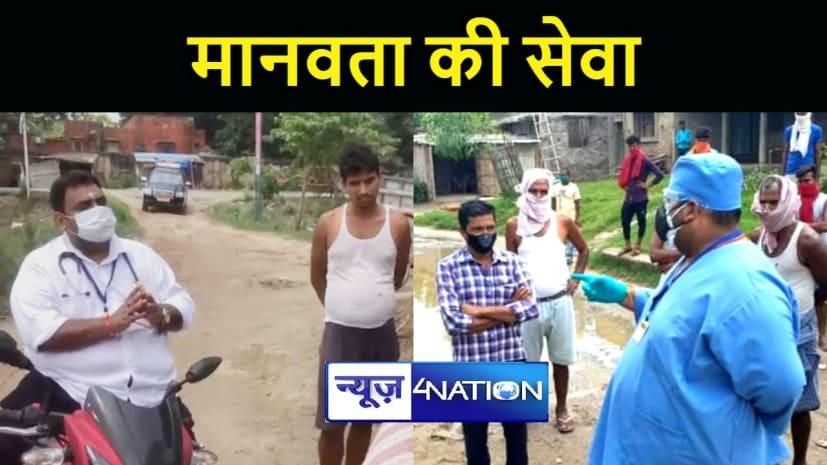 40 साल उम्र और 100 किलो वजन, फिर भी बाइक से ग्रामीण इलाकों में जाकर लोगों को टीका लेने के जागरूक करते हैं डॉ.अभिषेक