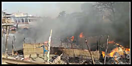 पटना में लगी भीषण आग, धू-धूकर जल उठी झोपड़ियां, लाखों का नुकसान, बेघर हुए हजारों लोग