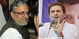 राहुल गांधी के 'चोर' वाले बयान पर भड़के सुशील मोदी, मानहानि का मुक़दमा करेंगे दायर