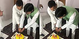 जन्मदिन पर तेजप्रताप के घर पहुंचे तेजस्वी यादव, लंबे अंतराल के बाद दोनों भाइयों के बीच मुलाकात
