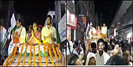 मीरा कुमार ने सासाराम में किया रोड शो, कांग्रेस के पक्ष में वोट करने की अपील