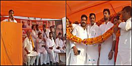 अगिआंव बाजार में एनडीए की जनसभा, चिराग पासवान और सुनील पांडेय ने की आरके सिंह को जिताने की अपील