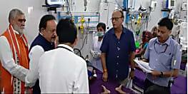 केन्द्रीय स्वास्थ्य मंत्री के सामने ही AES पीड़ित बच्ची ने तोड़ा दम, मौत की संख्या 85 के पार
