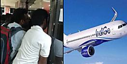 दिल्ली जाने वाली इंडिगो फ्लाइट में आई खराबी,पटना एयरपोर्ट पर यात्रियों का हंगामा