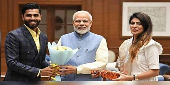 वर्ल्ड कप में जगह मिलने के बाद सर जडेजा ने किया BJP को समर्थन का ऐलान