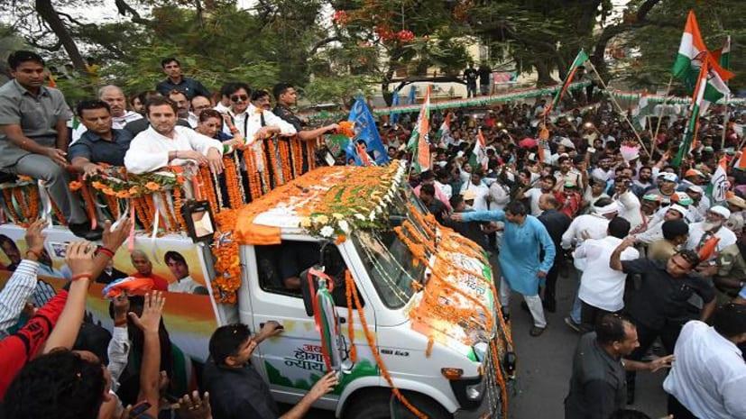 राहुल गांधी ने शत्रुघ्न सिन्हा के लिए पटना में किया रोड शो, तेजस्वी भी रहे मौजूद
