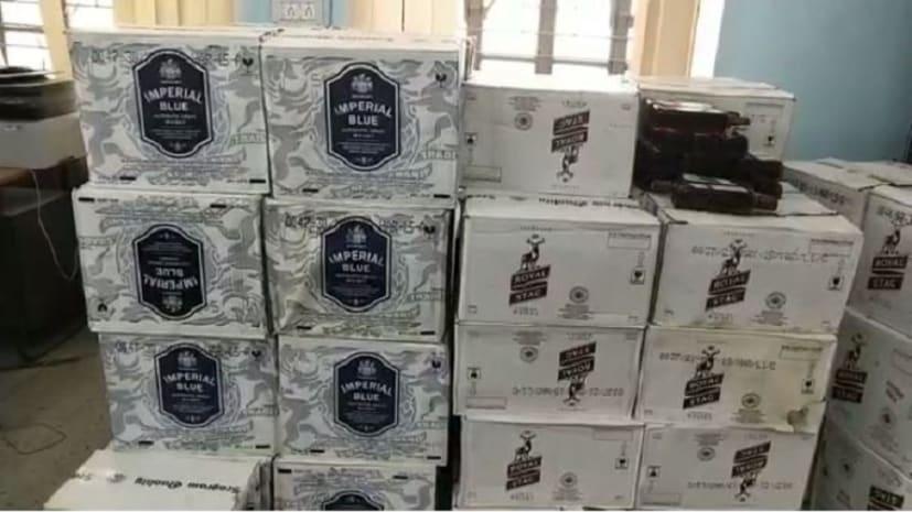 बड़ी खबर : पुलिस ने बरामद किये 150 कार्टन विदेशी शराब