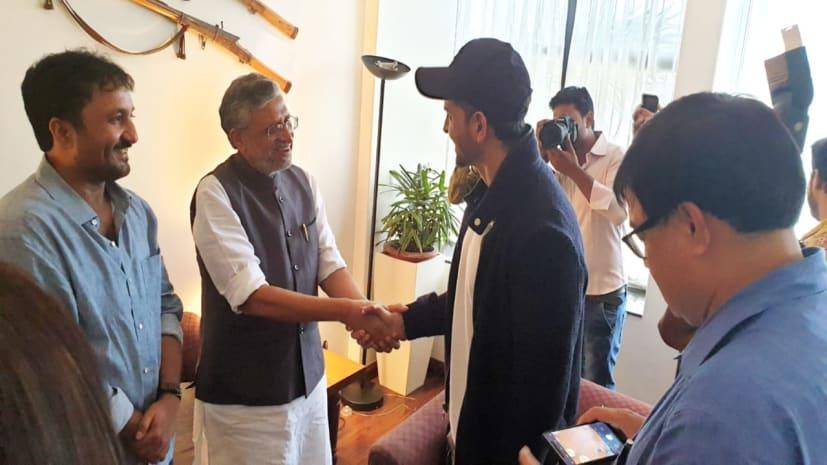 सुशील मोदी ने ऋतिक रौशन से की मुलाकात, फिल्म सुपर 30 की सफलता के लिए दी शुभकामनाएं