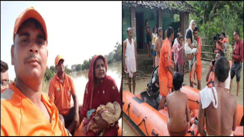 मधुबनी में एनडीआरएफ ने दिखाई मानवता, बाढ़ प्रभावित गर्भवती महिला को पहुंचाया अस्पताल