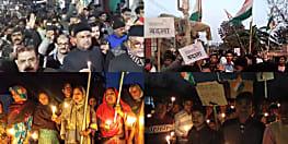 पुलवामा हमले के बाद देश में आक्रोश, बिहार के पटनासिटी, बगहा और मोतिहारी में कैंडिल मार्च
