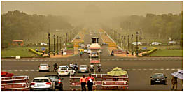 मौसम का बदला अचानक मिजाज, चली धूल भरी आंधी