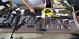वैशाली में पुलिस की बड़ी कार्रवाई, चंदन सिंह के घर से 200 राउंड गोली बरामद