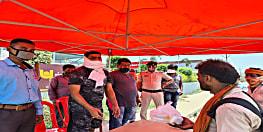 परदेस से लौट रहे लोगों के लिए BJP की तरफ से पटना में खुला राहत शिविर,पेट की आग बुझाने के साथ-साथ रास्ते के लिए दिया जा रहा खाद्य सामाग्री