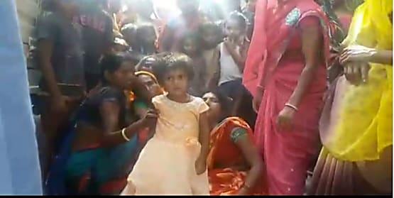 वहशी दरिदे की करतूत : पत्नी के साथ चार वर्षीय बेटी को फंदे से लटकाया