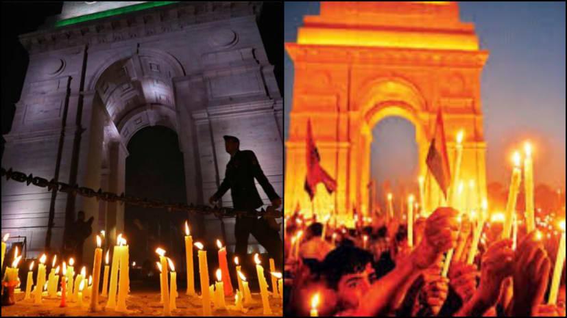 पुलवामा हमले के खिलाफ देश में गुस्सा, इंडिया गेट पर कैंडल मार्च में जुटे लाखों लोग