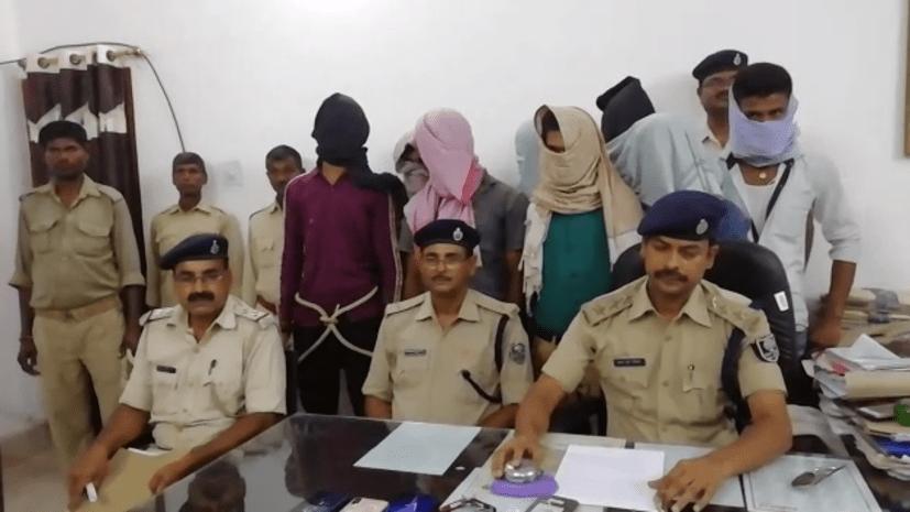 सीतामढ़ी पुलिस को मिली बड़ी सफलता, अंतर जिला लूटेरा गिरोह के 8 अपराधी गिरफ्तार