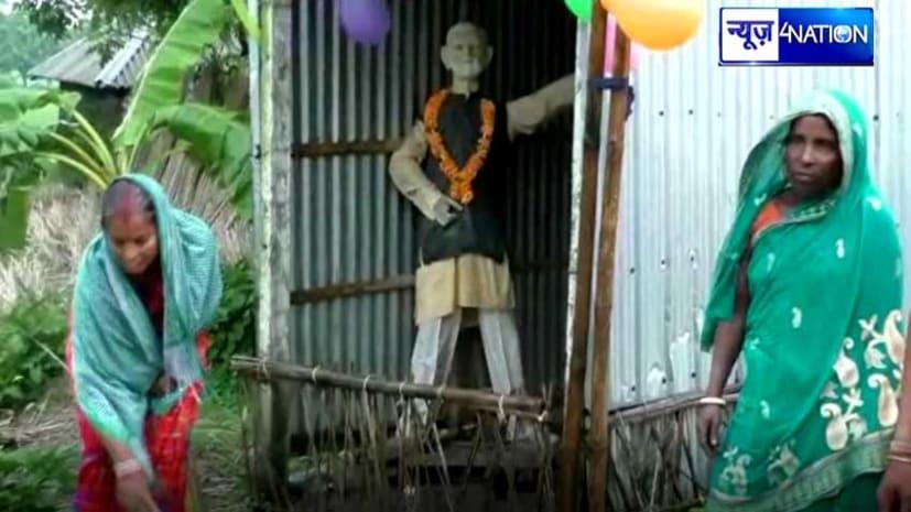 प्रधानमन्त्री के जन्मदिन पर आनंदपुर गाँव में खास तैयारी, मोदी मंदिर में ग्रामीण कर रहे हैं पूजा अर्चना