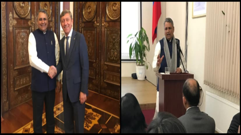 विजय चौधरी ने सेंट पीटर्सवर्ग असेम्बली के डिप्टी चेयरमैन से की मुलाकात, भारतीय समुदाय को किया संबोधित