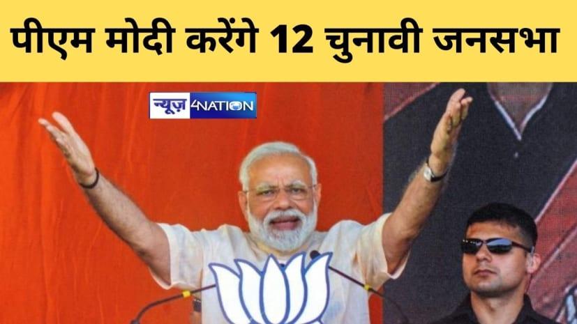बिहार में पीएम मोदी करेंगे 12 जनसभाएं, प्रधानमंत्री 28 अक्टूबर को पटना में करेंगे सभा,जानिए पूरा कार्यक्रम....