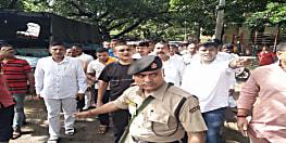 बिहार के डीजीपी पहुंचे न्यू पुलिस लाइन, बीती रात हुए हादसे का ले रहे हैं जायजा