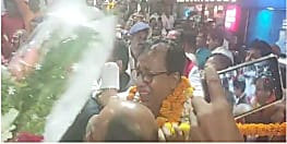 बिहार बीजेपी के नवनियुक्त प्रदेश अध्यक्ष संजय जायसवाल पहुंचे पटना, एयरपोर्ट पर समर्थकों ने किया जोरदार स्वागत