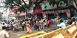 राजधानी पटना का डाकबंगला चौराहा बना रणक्षेत्र,पुलिस ने प्रदर्शनकारियों पर किया लाठीचार्ज