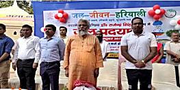 सरकार के जल, जीवन और हरियाली अभियान के समर्थन में उतरे वाटरमैन राजेंद्र सिंह, गया में की पदयात्रा