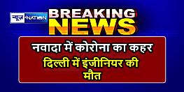 नवादा में कोरोना का कहर,दिल्ली में इंजीनियर की नौकरी कर रहे युवक की मौत, एक ही परिवार के 4 लोग संक्रमित