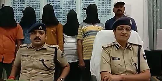 पटना पुलिस ने गैंगवार से पहले 6 अपराधियों को किया गिरफ्तार, पिस्टल-कारतूस बरामद