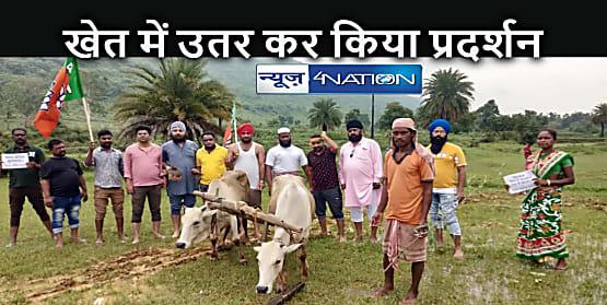 JHARKHAND NEWS: धान की बकाया राशि भुगतान नहीं करने के विरोध में बीजेपी अल्पसंख्यक मोर्चा का प्रदर्शन