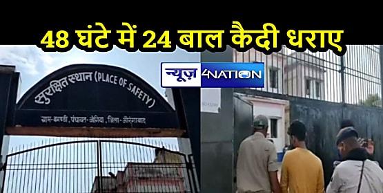 BIHAR NEWS: प्लेस ऑफ सेफ्टी से फरार 33 बाल कैदी में से 24 धराए, 9 बच्चों की तलाश के लिए धरपकड़ जारी