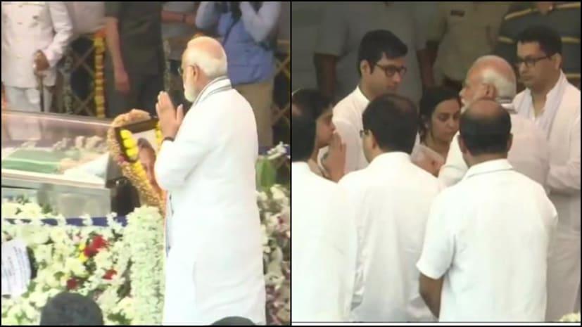 पीएम नरेंद्र मोदी ने पर्रिकर को दी अंतिम विदाई, श्रद्धांजलि देने उमड़ा गोवा