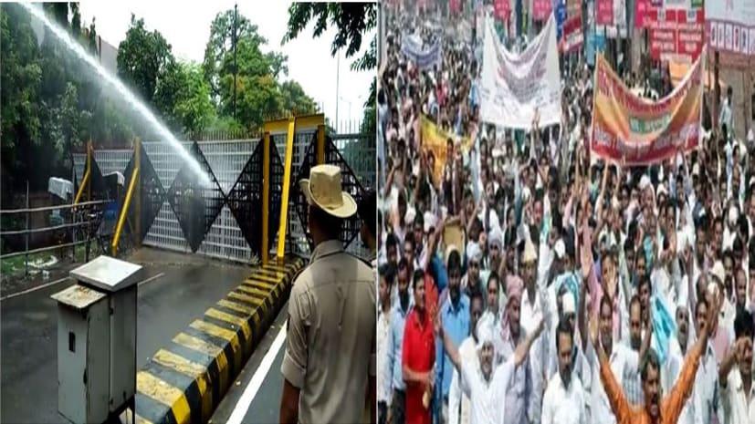 विधानसभा का घेराव करने पहुंचे नियोजित शिक्षकों और पुलिस के बीच जबरदस्त झड़प, प्रदर्शनकारियों पर वाटर कैनन का प्रयोग