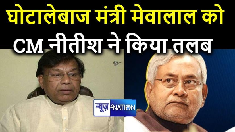 घोटालेबाज मंत्री मेवालाल की जाएगी कुर्सी! भद्द पिटने के बाद CM नीतीश ने किया तलब.....