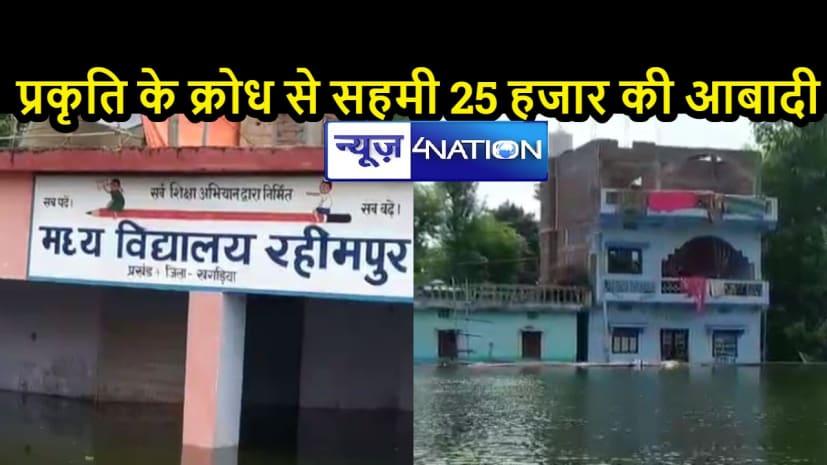 बिहार में बाढ़ः रिहायशी इलाकों में कमर तक भरा पानी, स्कूल सहित पंचायत भवन डूबे, लोग जल कैदी बनकर काट रहे दिन