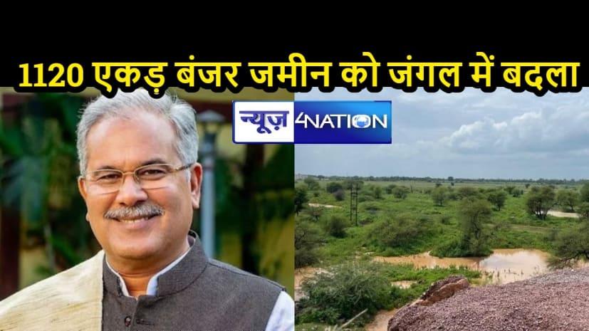 POSITIVE NEWS: एक कदम पर्यावरण की ओर, छत्तीसगढ़ में बंजर जमीन पर बना रहा भारत का सबसे बड़ा मानव निर्मित जंगल