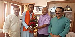 बिहार बीजेपी के नवनियुक्त अध्यक्ष संजय जायसवाल ने सीपी ठाकुर से की मुलाकात, लिया आशीर्वाद