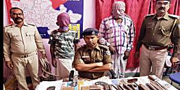 पुलिस ने मिनी गन फैक्ट्री का किया उद्भेदन, हथियार बनाने के उपकरण के साथ दो को किया गिरफ्तार