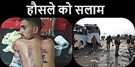 पुलवामा हमले में शहीद जवानों के लिए अनोखी श्रद्धांजलि, पीठ पर गुदवाए 42 शहीदों के नाम